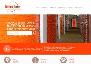 Capture page d'acceuil interbox